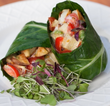 Collard Leaf Burrito. Photo: CORE Foods