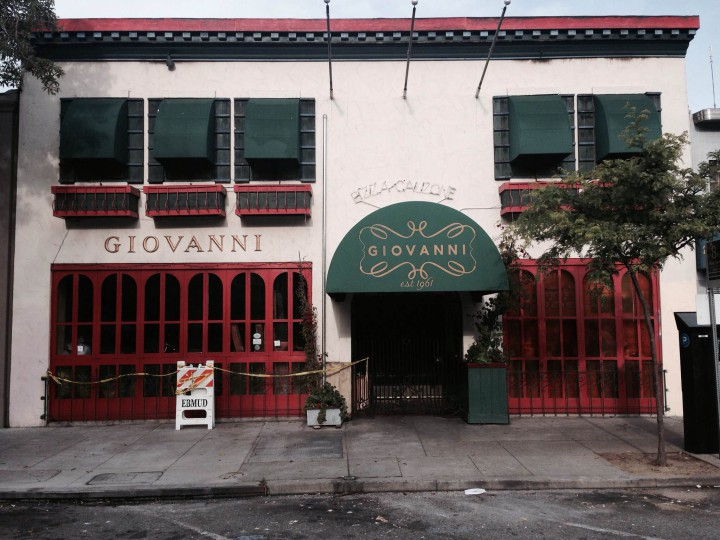 Giovanni's after fire, April 24, 2015 . Photo: Tracey Taylor