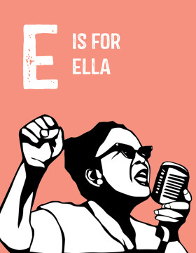 "Civil rights activist Ella Baker gets the letter ""E."" Photo courtesy of the authors."