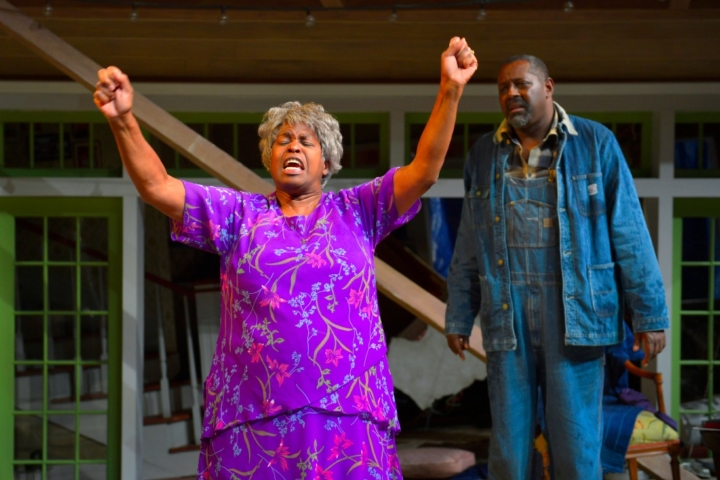 l to r) Cheryl Lynn Bruce (Shelah) and Michael A. Shepperd (Creaker) perform in Tarell Alvin McCraney's Head of Passes, a poignant and poetic new play about the journey of family and faith, trial and tribulation at Berkeley Rep. Photo courtesy of kevinberne.com
