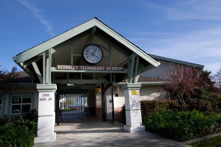 It's easy to drive by Berkeley Technology Academy without even noticing it's there. Photo: Emilie Raguso