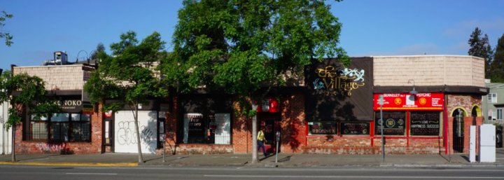 Developers have proposed a new building at The Village on Telegraph Avenue. Photo: Tim Kelley Consulting