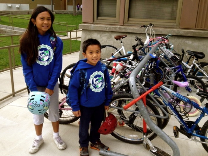 Bike to School Day has skyrocked over the past few years, with over 4,700 participants in 2014. Photo: Bike East Bay