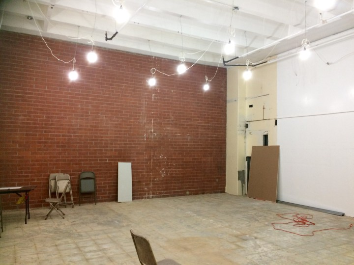Work is underway to transform Revolution Book's new space, which they will move into by Aug. 1st. Photo: Emily Dugdale
