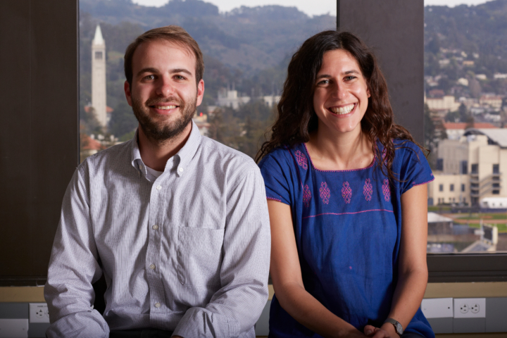 Localwise's two founders and crew of interns are based out of SkyDeck, UC Berkelely's incubator for start-ups. Picture: LocalWise