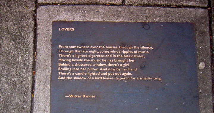 One of the poems on the Berkeley Poetry Walk on Addison Street. Photo: Carleton Gholz