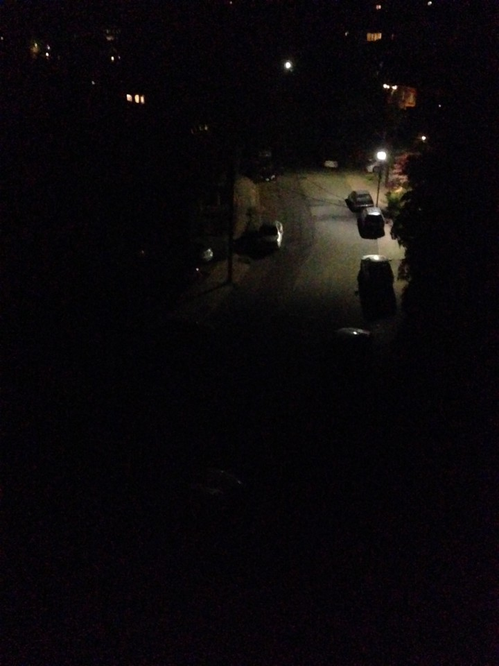 The 1000 block of Shattuck Avenue around 9:45 p.m.  with one half with power and one half without. Photo: Colleen Neff