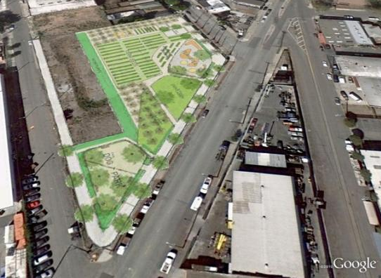 City Slicker Farms will be at the corner of Peralta and 28th streets in West Oakland. Image: courtesy City Slicker Farms