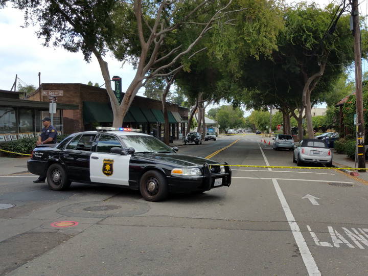 Authorities are investigating a suspicious package in North Berkeley. Photo: Devin Taylor-McDonald