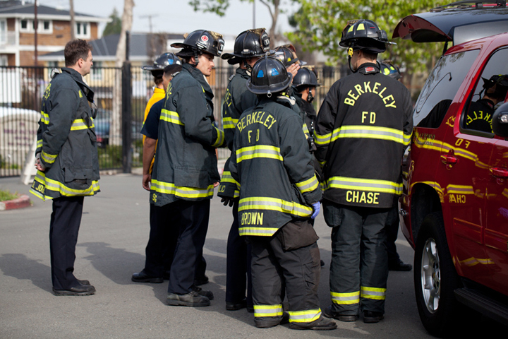 Police and firefighters will be out in the North Berkeley neighborhoods this week practicing wildfire response (file photo). Photo: Emilie Raguso