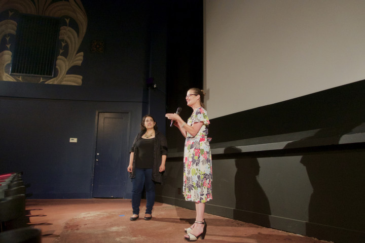 """Siciliana Trevino and Doris Moscovitz answer questions at the Elmwood Theater after a screening of """"New Mo' Cut."""" Photo: Ted Friedman"""