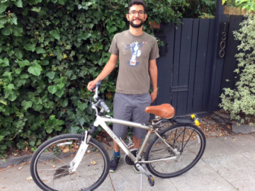 Caio Braga got his bike back about 24 hours after it was stolen. An identical bike is still missing. Photo: Berkeley Police