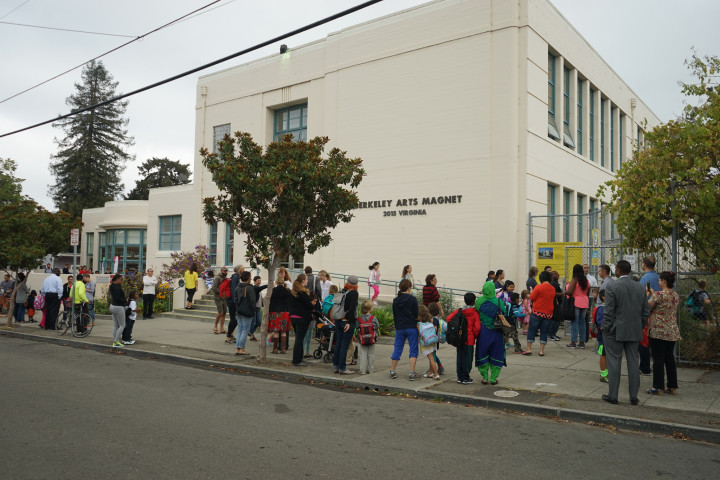 BUSD first days back at school September 2015. Photo: Mark Coplan