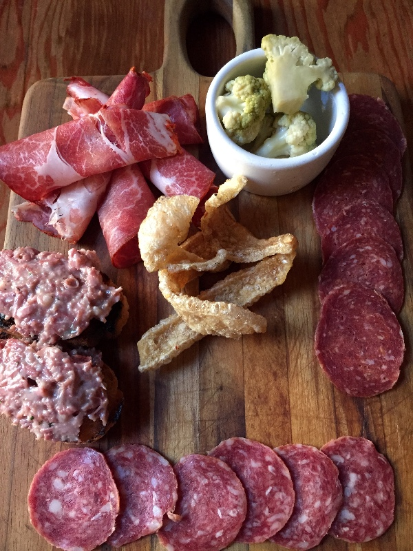 House-cured salumi plate at Corso. Photo: Alix Wall