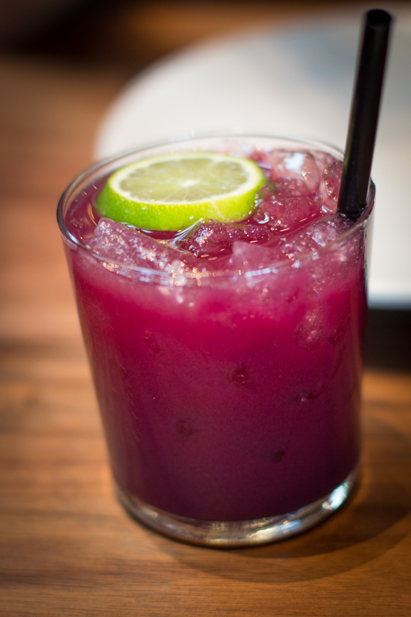 Strawberry beet agua fresca with lime at The Advocate. Photo: Benjamin Seto