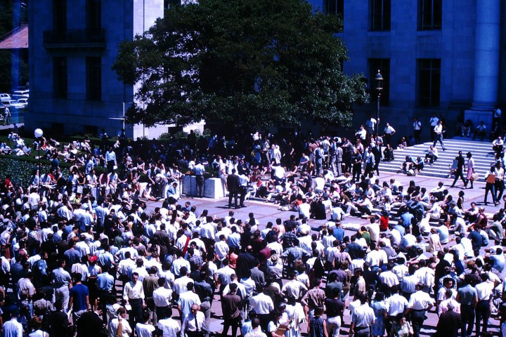 Sproul Plaza rally. Photo courtesy of Tom Stetler