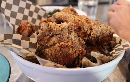 Fried chicken at Miss Ollie's. Photo: Kate Williams