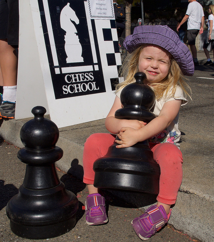 Human chess at Sunday Streets. Photo: Nancy Rubin