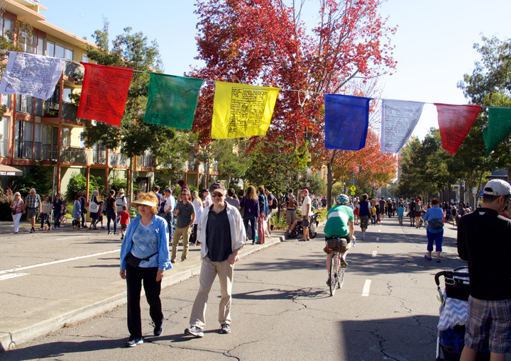 Out for a stroll at Sunday Streets. Photo: Nancy Rubin
