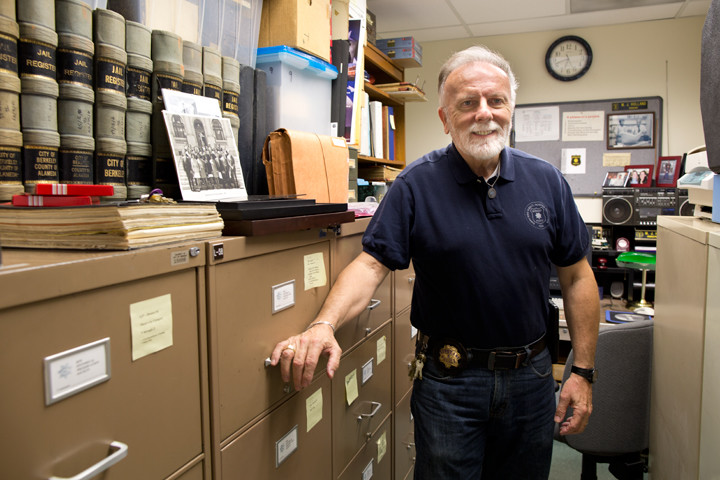 Sgt. Michael Holland, in his office at the Berkeley Police Department. Photo: Emilie Raguso