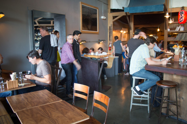 Added tables in the old bar area at Ramen Shop. Photo: Benjamin Seto