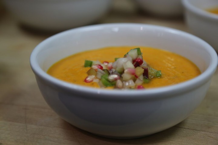 Carrot soup at Alameda Kitchen. Photo courtesy: Food Shift
