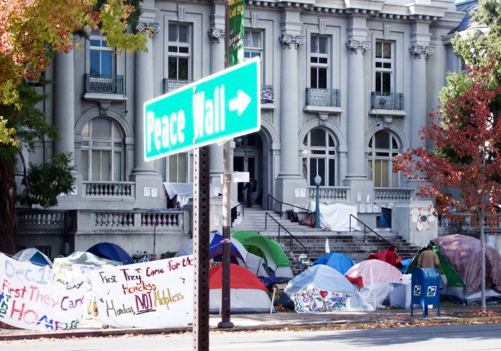 Old City Hall camp by Ted Friedman