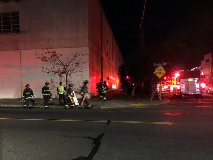 The West Berkeley fire was out by at least 6:25 p.m. Photo: Good News!