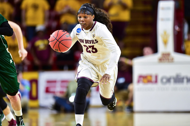 """Says Davis: """"I made it a purpose to show others that I was also smart."""" Photo: Sun Devil Athletics"""