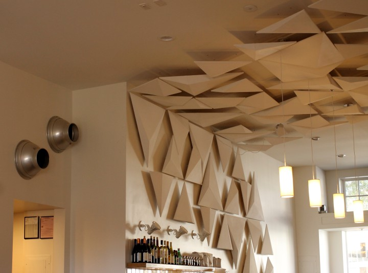 Ceiling art at Kaleidoscope Coffee. Photo: Kate Williams