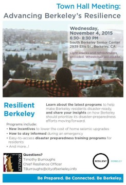 Town Hall: Advancing Berkeley's Resilience
