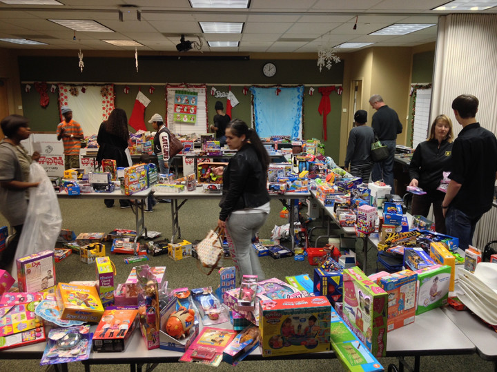 The 2014 Toys for Toys giveaway. Photo: Berkeley Police Department