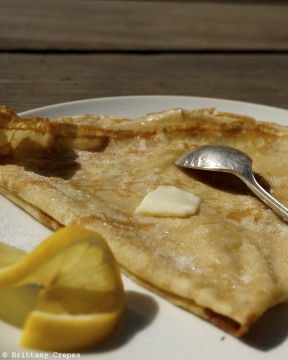 Butter, sugar and lemon crêpe from Brittany Crêpes and Galettes. Photo courtesy: Laurent Le Barbier