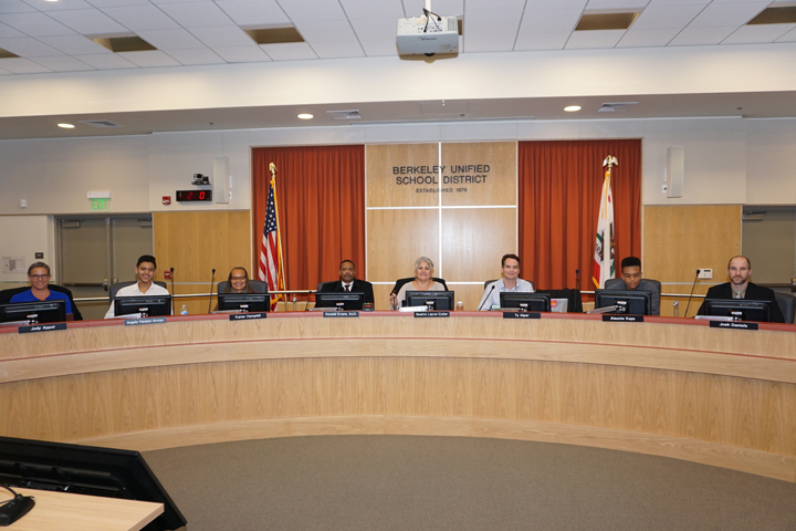 The BUSD School Board in December 2015. Photo: Mark Coplan/BUSD