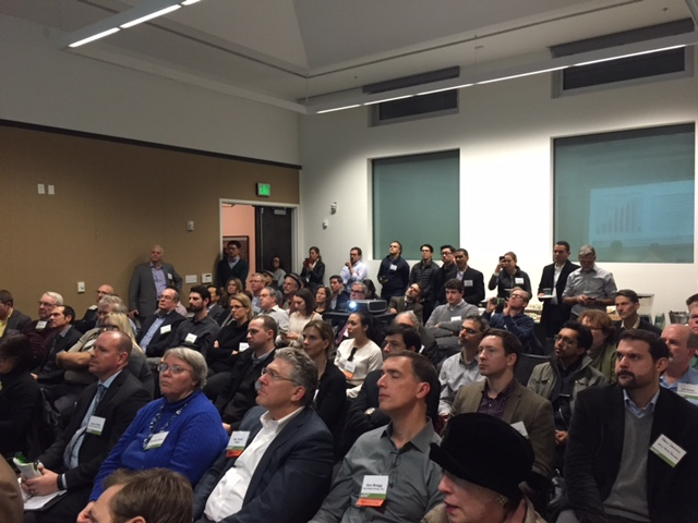 About 60 people gathered at the David Brower Center in Berkeley on Jan. 21 for a forum on housing put on by the Urban Land Institute. Photo: Urban Land Institute