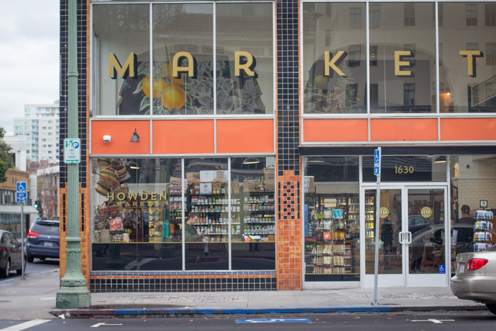 The new Howden Market anchors the corner of the historic Howden Building in Oakland's Uptown. Photo: Benjamin Seto