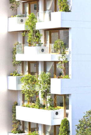 The project could include green balconies like these. Image: WRNS Studio