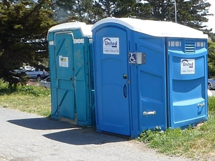 Cesar Chavez Park has had porta-potties for 25 years Photo: courtesy Martin Nicolaus