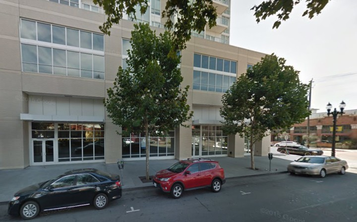 Brooklyn West will be in the ground floor of the Ellington condo building in Jack London Square. Photo: Google Maps
