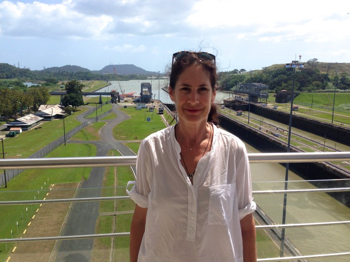 Judith Belzer at the Panama Canal. Photo courtesy of Judith Belzer