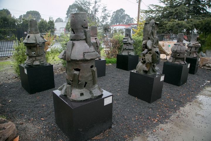 "Peter Voulkos ""Stacks"" at 729 Heinz Avenue. Photo: John Storey"
