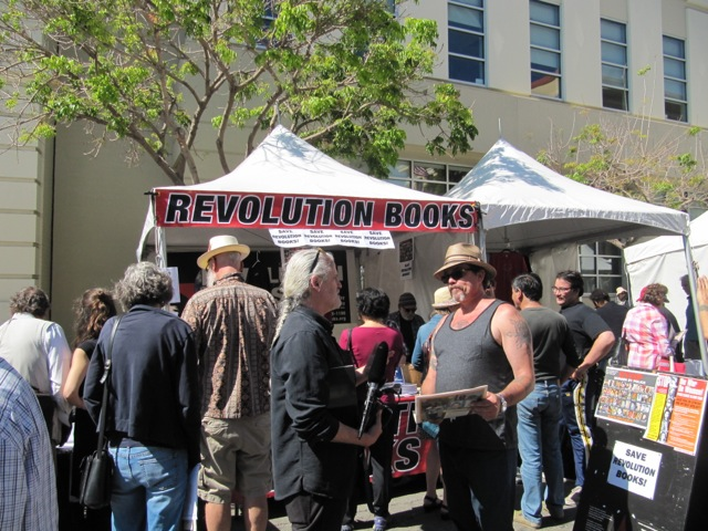 Revolution Books at the Bay Area Book Festival. Photo: BABF