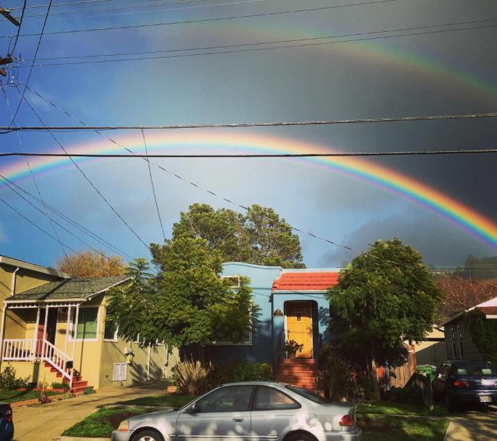 A double rainbow in Berkeley over the weekend. Photo: inongwoohoo