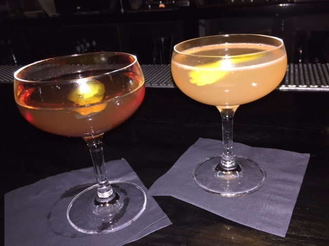 Rye of the Tiger #2 (left) and Foxy Corridor (right) cocktails at Drexl. Photo: Risa Nye