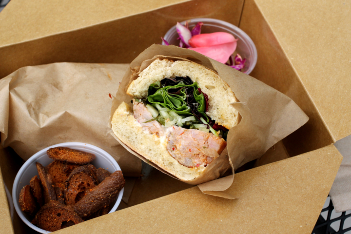 Lao sausage sandwich from Pal's Takeaway. Photo: Kate Williams