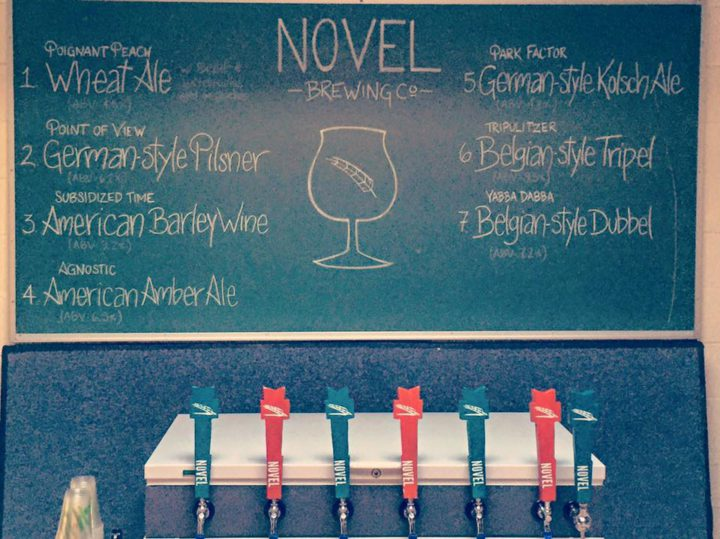 Taps at Novel Brewing's open house February 6. Photo: courtesy Novel Brewing