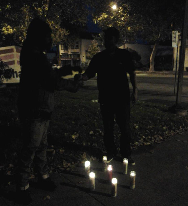 A candlelight vigil for Medearis in September 2013. Photo: Tracie Mason
