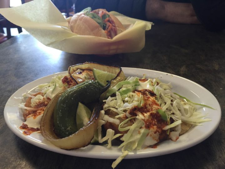 Fish tacos at Saigon Deli. Photo: Emily Laskin