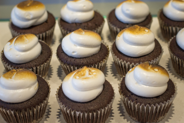 Popular S'mores cupcakes from Stateside Bakery. Photo: Benjamin Seto