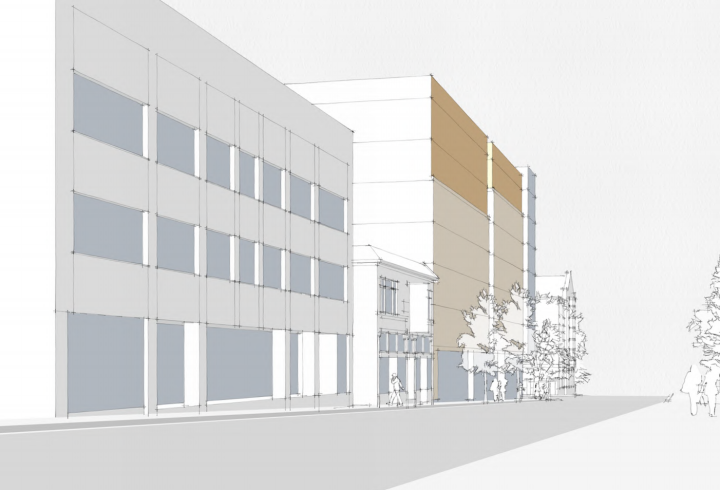 A rendering of how the Stiles student housing project would look on Bancroft Avenue. Photo: UC Berkeley